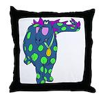 DotDinosaur Throw Pillow