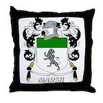 Marsh Coat of Arms Throw Pillow