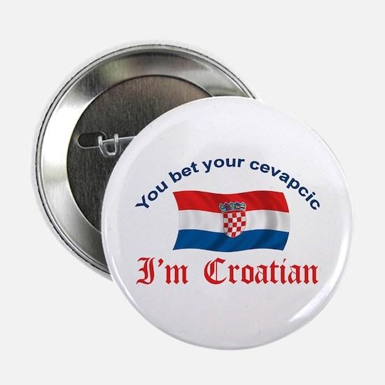 """Croatian Cevapcic 2 2.25"""" Button"""