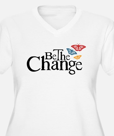 Gandhi - Change - Butterfly T-Shirt