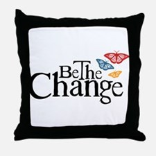 Gandhi - Change - Butterfly Throw Pillow