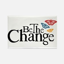 Gandhi - Change - Butterfly Rectangle Magnet