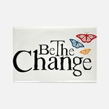 Gandhi - Change - Butterfly Rectangle Magnet (10 p
