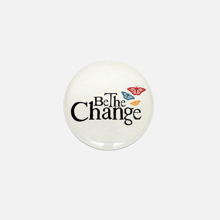Gandhi - Change - Butterfly Mini Button