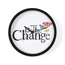 Gandhi - Change - Butterfly Wall Clock