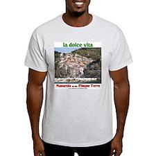 Manarola Ash Grey T-Shirt