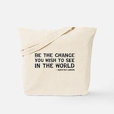 Quote - Gandhi - Change Tote Bag