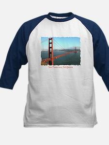 Golden Gate Bridge - Kids Navy Baseball Jersey