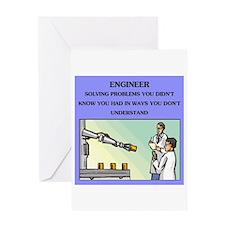 engineer engineering joke Greeting Card