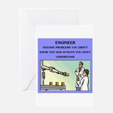 engineer engineering joke Greeting Card