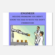 engineer engineering joke Postcards (Package of 8)