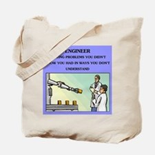 engineer engineering joke Tote Bag