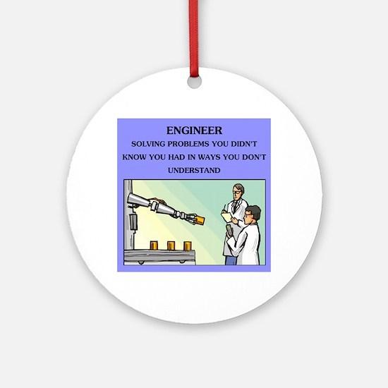 engineer engineering joke Ornament (Round)
