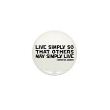 Quote - Gandhi - Live Simply Mini Button (10 pack)