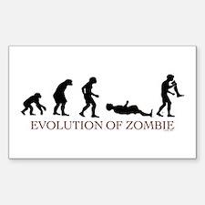 Evolution of Zombie Rectangle Sticker 10 pk)