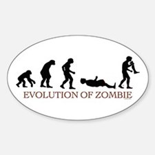 Evolution of Zombie Oval Decal
