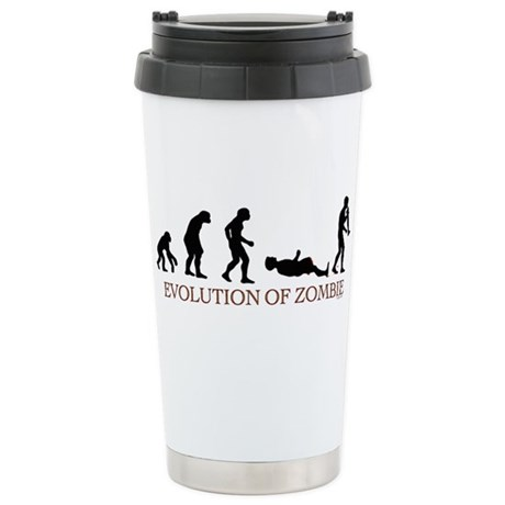 Evolution of Zombie Stainless Steel Travel Mug