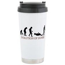 Evolution of Zombie Travel Coffee Mug