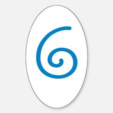 Age 6 (6th Birthday) Oval Decal