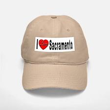 I Love Sacramento California Baseball Baseball Cap