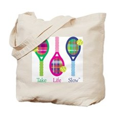 Tennis Trio, Tote Bag