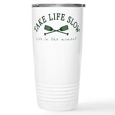 TLS Green Oars, Travel Coffee Mug
