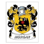 Morgan Coat of Arms Small Poster