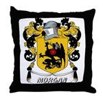 Morgan Coat of Arms Throw Pillow