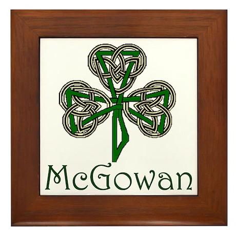 McGowan Shamrock Framed Tile