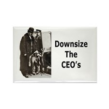 Downsize CEO's Rectangle Magnet