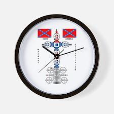 Confederate States Wellhead Wall Clock