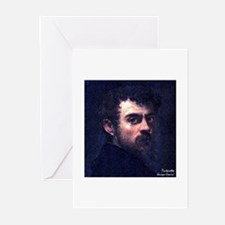 """Faces """"Tintoretto"""" Greeting Cards (Pk of 10)"""