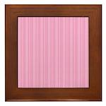 Pink Stripes Framed Tile