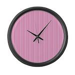Pink Stripes Large Wall Clock
