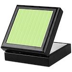 Lime Green Stripes Keepsake Box