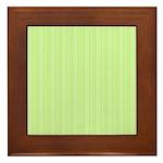 Lime Green Stripes Framed Tile
