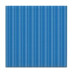 Blue Stripes Tile Coaster