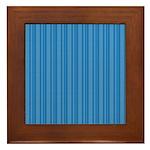 Blue Stripes Framed Tile