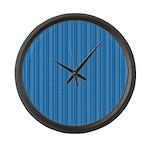 Blue Stripes Large Wall Clock