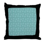 Teal Confetti Throw Pillow