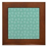 Teal Confetti Framed Tile