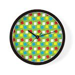 Bright Confetti Wall Clock