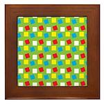 Bright Confetti Framed Tile