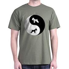 Yin Yang Schnauzer T-Shirt