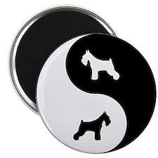 Yin Yang Schnauzer Magnet