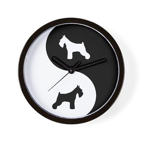 Yin Yang Schnauzer Wall Clock By Dogwire