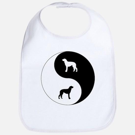 Yin Yang Deerhound Bib