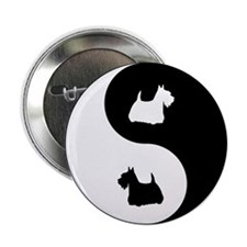 "Yin Yang Scottie 2.25"" Button"