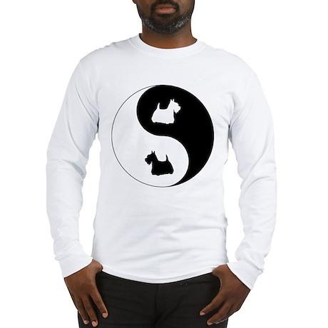 Yin Yang Scottie Long Sleeve T-Shirt