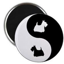 Yin Yang Scottie Magnet